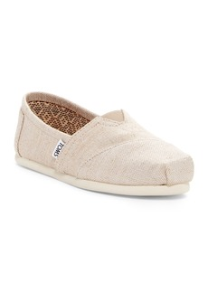 TOMS Shoes 'Classic - Metallic Burlap' Slip-On (Women)