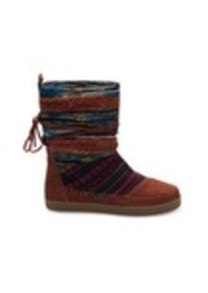 Cognac Suede Textile Mix Women's Nepal Boots