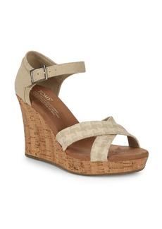 TOMS Shoes Crisscross Wedge Sandals