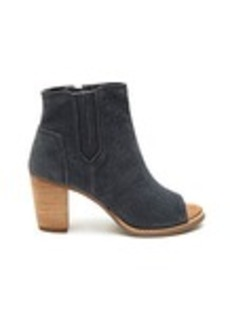 Dark Grey Suede Embossed Women's Majorca Peep-Toe B...