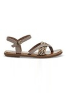 Desert Taupe Canvas Embroidery Women's Lexie Sandals