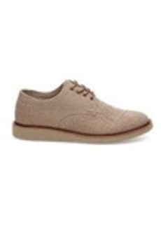TOMS Shoes Desert Taupe Coated Twill Men's Brogues