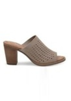 Desert Taupe Suede Perforated Leaf Women's Majorca Mu...