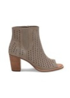 TOMS Shoes Desert Taupe Suede Perforated Leaf Women's Majorca Pe...