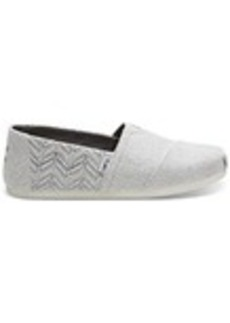 TOMS Shoes Drizzle Grey Chevron Quilted Men's Classics