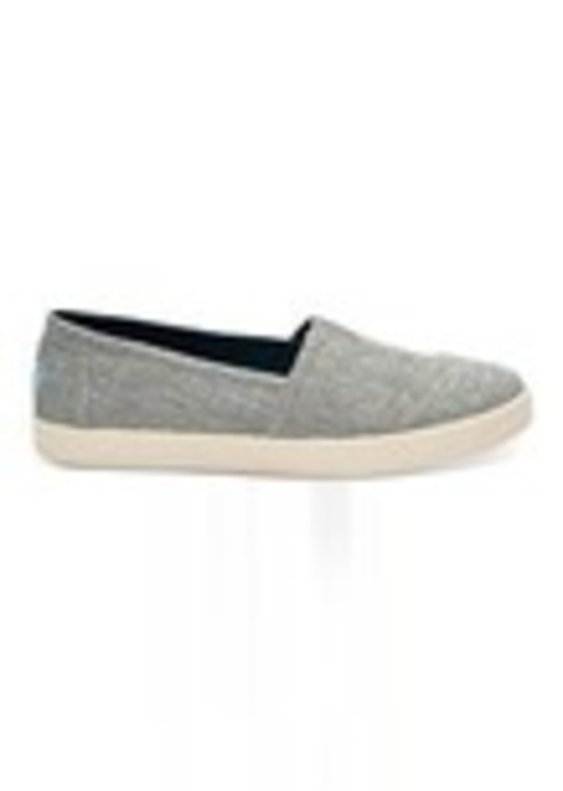 db6fb44f4bc TOMS Shoes Drizzle Grey Metallic Woven Women s Avalon Slip-Ons ...