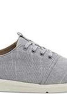 TOMS Shoes Drizzle Grey Textured Chambray Men's Del Rey Sneakers