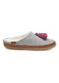 TOMS Shoes Drizzle Grey Wool Tassel Women's Ivy Slippers