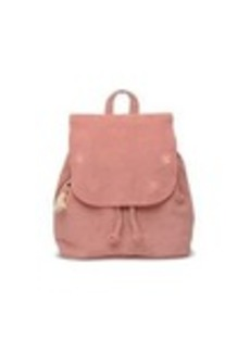 TOMS Shoes Dusty Rose Suede Embroidered Poet Backpack