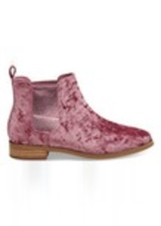 TOMS Shoes Faded Rose Velvet Women's Ella Booties