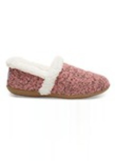 TOMS Shoes Faded Rose Woolen Women's Slippers