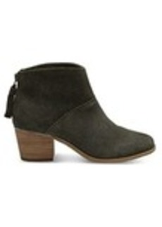 TOMS Shoes Forest Suede Women's Leila Booties