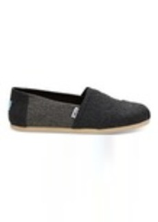 TOMS Shoes Forged Iron Grey Herringbone Wool Men's Classics