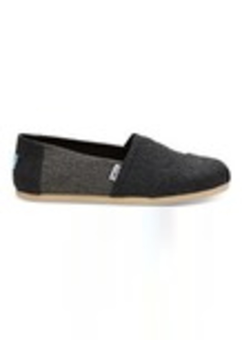 22e73be19bf TOMS Shoes Forged Iron Grey Herringbone Wool Men s Classics