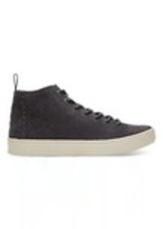 TOMS Shoes Forged Iron Grey Suede Men's Lenox Mid Sneakers