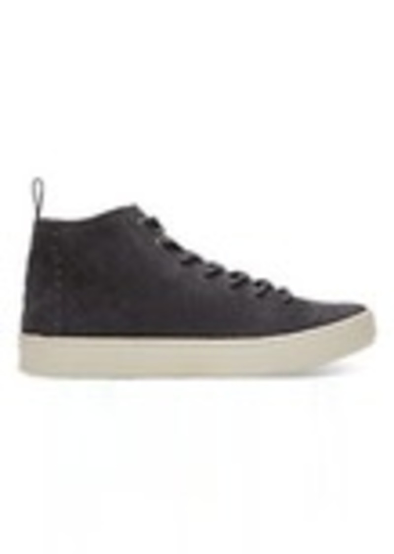 9c6909ee9f7 TOMS Shoes Forged Iron Grey Suede Men s Lenox Mid Sneakers