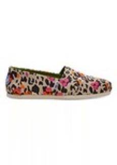 TOMS Shoes Fuchsia Floral Leopard Women's Classics