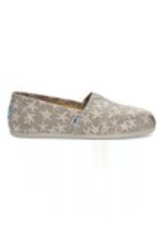 TOMS Shoes Gold Foil Starfish Women's Classics