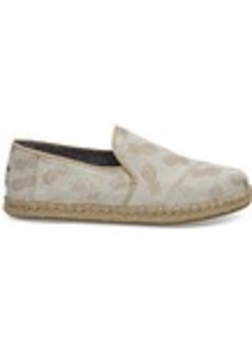 TOMS Shoes Gold Metallic Pineapples Women's Deconstructed Alpa...