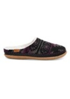 TOMS Shoes Grey and Fuchsia Wool Women's Ivy Slippers