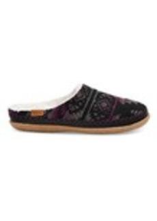 Grey and Fuchsia Wool Women's Ivy Slippers