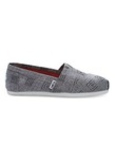 TOMS Shoes Grey Canvas Embroidered Women's Classics