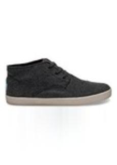 TOMS Shoes Grey Herringbone Men's Paseo-Mids Sneakers