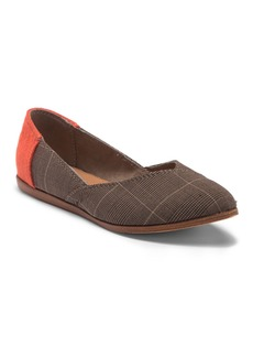 TOMS Shoes Jutti Plaid Pointed Toe Flat