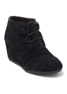 TOMS Shoes Kala Suede Wedge Bootie