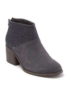 TOMS Shoes Lacy Suede Bootie