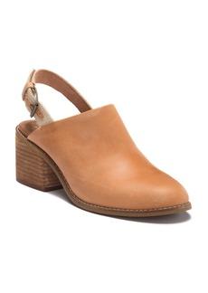 TOMS Shoes Leila Leather Slingback Block Heel Sandal