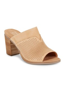 TOMS Shoes Majorcamul Perforated Leather Mules
