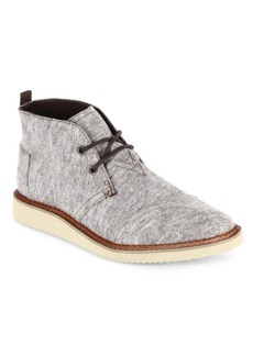 TOMS Shoes Mateo Chambray Chukka Boots