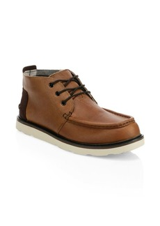 TOMS Shoes Moc Toe Leather Chukka Boots