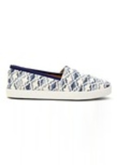 Natural Blue Textured Canvas Tile Women's Avalon Slip-Ons