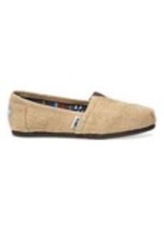 TOMS Shoes Natural Burlap Men's Classics