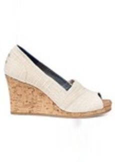 TOMS Shoes Natural Linen Cork Women's Classic Wedges