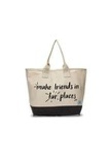 TOMS Shoes Natural Make Friends In Far Places All Day Tote