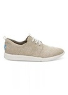 Natural Metallic Linen Women's Del Rey Sneakers
