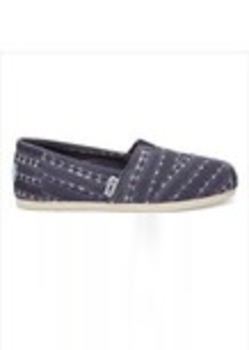 a1fea78386c TOMS Shoes Navy Batik Stripe Men s Classics