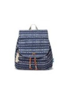 TOMS Shoes Navy Batik Stripe Textile Poet Backpack