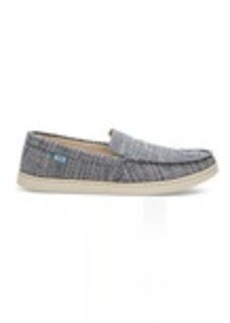 TOMS Shoes Navy Microstripe Men's Aiden Slip-Ons
