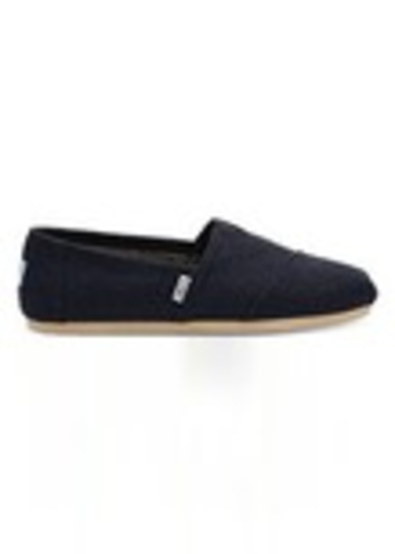8ff0282124a TOMS Shoes Navy Microstripe Wool Faux Shearling Men s Classics