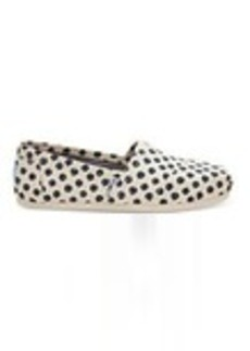 TOMS Shoes Navy Polka Dot Women's Classics