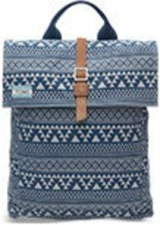 TOMS Shoes Navy Tribal Geo Canvas Trekker Backpack