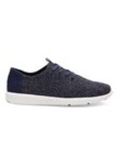 TOMS Shoes Navy Two Tone Woven Men's Del Rey Sneakers