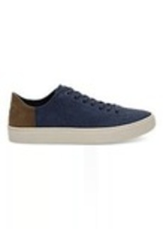 TOMS Shoes Navy Washed Canvas Men's Lenox Sneakers