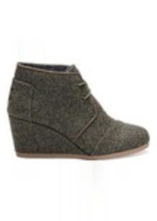 TOMS Shoes Olive Herringbone Women's Desert Wedges