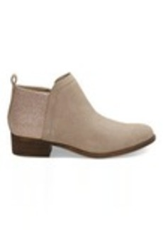 TOMS Shoes Oxford Tan Suede and Glimmer Women's Deia Booties