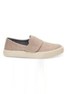 TOMS Shoes Pale Pink Metallic Woven Women's Altair Slip-Ons